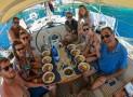 Comment se déroulent les repas au bord d'un bateau de croisière ?